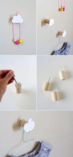 Kindergarderobe basteln - einfache Idee fürs moderne Kinderzimmer