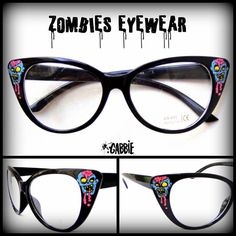 ___zombies eyewear___ custom eyeglasses frames ideal for changing for prescription lenses these have just
