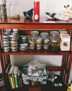 we are slowly settling into our new space. fall decor filling the air bringing in the New.  my humble apothecary is growing and it's time to delve deeper in my herbal studies especially during this season my favorite one.  i can't wait to share some of the things i make with you. i love this journey and the  connection i experience with these green allies.  some of my favorites things to make are hair products salves body oils healing & soothing oils & bath oils and of course infusions. i'm…