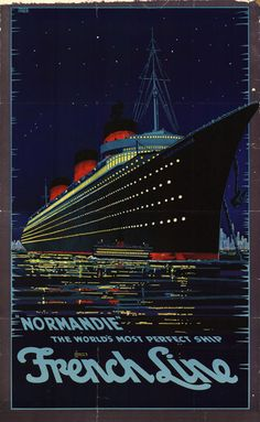 FRANCE - Normandie - The French Line Vintage Travel.16