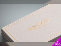White Business Cards Mockup PSD