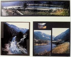 Helen Mayer HARRISON and Newton HARRISON - Breathing Space for the Sava River, Yugoslavia (detail) 1988-90 Photo collage, text, maps Land Art, Forts, Environmental Art, Maps, Polaroid Film, Collage, Artists, River, Space