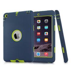 Para el mini iPad 1 / 2 / 3 Retina Kids Baby Safe armadura a prueba de golpes de silicona de alta resistencia cubierta del estuche rígido Protector de pantalla Film + Stylus Pen