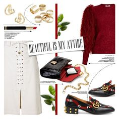 """Beautiful Is My Attire"" by yurisnazalieth ❤ liked on Polyvore featuring Gucci, Sea, New York, Sonia Rykiel, Aspinal of London and Ana Khouri"