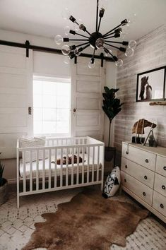 "Cute baby boy nursery designs and also styles - he easiest method to start your baby boy's nursery is by settling on a single beginning factor, whether it's a theme, shade, or a preferred art piece. boy first"" girl names nursery stuff Baby Bedroom, Baby Boy Rooms, Baby Room Decor, Baby Boy Nurseries, Baby Boys, Country Baby Rooms, Rustic Baby Nurseries, Chic Nursery, Nursery Neutral"