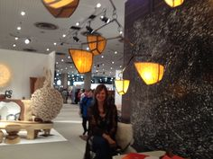 Lighting that looks like the current amorphous shapes in jewelry by Andrea Claire who I met at #ICFF