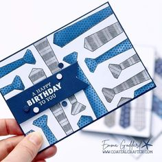 Masculine Birthday Cards, Birthday Cards For Men, Man Birthday, Masculine Cards, It's Your Birthday, Stampin Up Karten, Birthday Sentiments, Suit Up, Fathers Day Cards