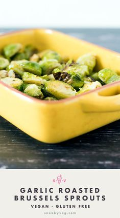 Garlic roasted Brussels sprouts are the quickest, easiest and most delicious way to cook Brussels sprouts. The perfect side for a roast dinner. Best Side Dishes, Side Dish Recipes, Easy Dinner Recipes, Autumn Recipes Vegetarian, Vegetarian Dinners, Vegan Meals, Vegan Recipes, Hazelnut Recipes, Steamed Green Beans