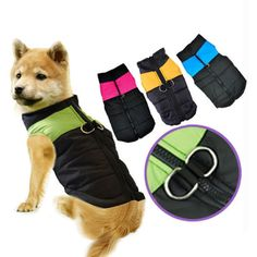 New Winter Warm Pet Dog Clothes Small Waterproof Dog Coat Jacket Winter Quilted Padded Puffer Pet Clothes S-XL