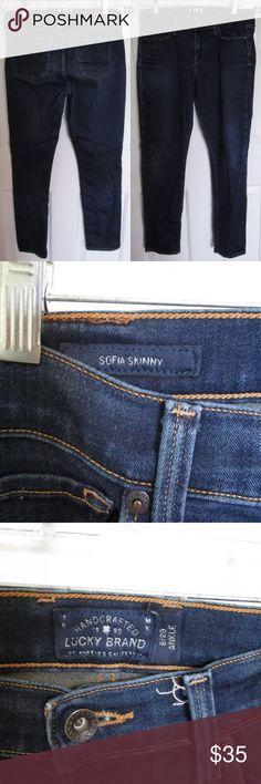a95e350a53b Lucky Brand Sofia Ankle Dark Wash Jeans 29   8 Lucky Brand Sofia Skinny  Jeans ANKLE
