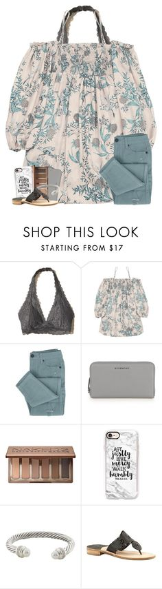 """hope, but never expect"" by oliviajordyn ❤ liked on Polyvore featuring Hollister Co., Givenchy, Urban Decay, Casetify, David Yurman and Jack Rogers"