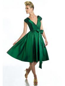 Built-in Bra plus sizes and petite shape zipper back a-line deep green cocktail party occasion 2012 Bridesmaid Dresses