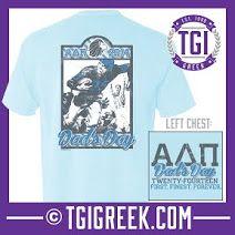 TGI Greek - Alpha Delta Pi - Comfort Colors - Greek T-shirts #TGIGreek #AlphaDeltaPi #Dadsday