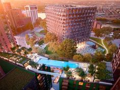 Ballymore said the pool would be the first in the world to link two residential buildings