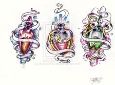 colorful-bottle-tattoos-design.jpg (800×594)
