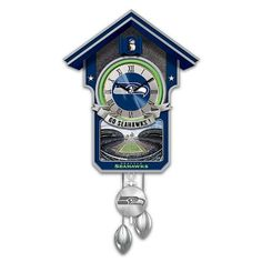 Seattle Seahawks NFLLicensed Cuckoo Clock  By The Bradford Exchange ** See this great product.
