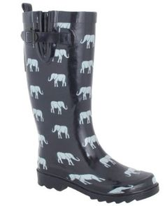 Capelli New York Shiny Elephant Parade Printed Ladies Rain Boot Navy Combo 9 Elephant Parade, Elephant Love, Elephant Print, Elephant Stuff, Elephant Jewelry, Elephant Clothing, Elephant Earrings, Baskets, Rubber Rain Boots