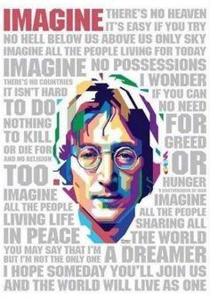 John Lennon-Imagine subtitulado español e ingles The Beatles, Foto Beatles, Beatles Art, John Lennon Beatles, Imagine John Lennon Lyrics, John Lennon Quotes, John Lennon And Yoko, Rock And Roll, Pop Rock
