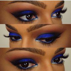 Blue eyeshadow eyes