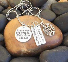 Bonus Mom Necklace © Mother's Day Gift by SecretHillStudio