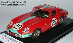 Ferrari 275GTB/C nº29, vencedor de la clase GT de las 24h de Le Mans de 1966,  con Courage y Pike. Modelo realizado por Best a escala 1:43