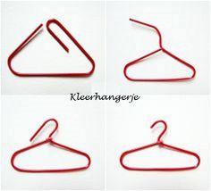 create coat hanger from paper clip