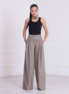 Wide Leg Pants/ Palazzo Pants/ High Waisted Pants/ Pants With Pockets/ Maxi Pants/ Loose Pants/Pants Skirt/Wide Leg Trousers/Friends Fashion Loose Pants, Wide Leg Trousers, Wide Leg Pants, Black Pants, Katharine Hepburn, Maxi Pants, Palazzo Pants, Pantalon Large, Wide Leg Denim