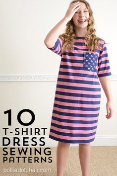 Sewing Tutorials | 10 T-Shirt Dress Sewing Patterns
