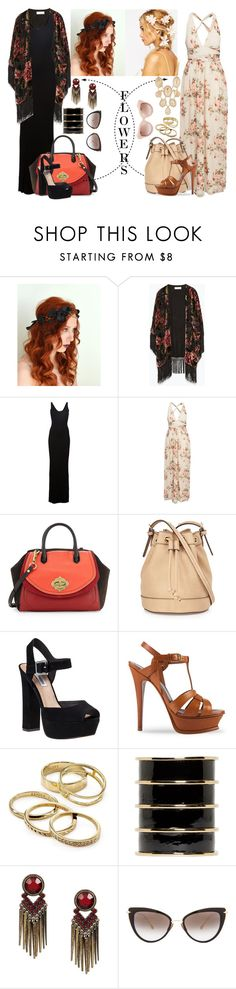 """""""The light and the dark side"""" by nvoyce ❤ liked on Polyvore featuring Zara, ASOS, Enza Costa, NLY Eve, Oryany, Neiman Marcus, Steve Madden, Yves Saint Laurent, Kendra Scott and Balmain"""