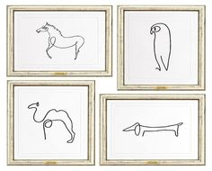 animals sketches by Picasso