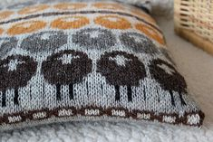 Ravelry: Constana's Sheep pillow i love the colours this knitter has used