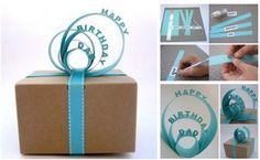 Wonderful DIY Nice Paper Sign Gift Topper