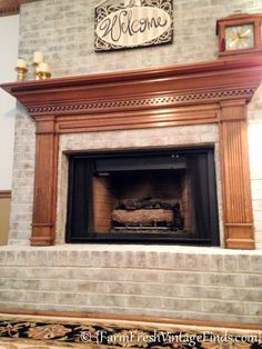 """Ihave beenwanting to whitewash brick for a really long time. Problem is….I don't have any brick at my house. But what I do have is an amazing client that said, """"Can you whitewash my brick fireplace?""""  Ummmmm let me think about it….YEAH! I apologize for not having a better before photo. I have this […]"""
