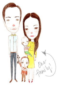 family portrait.... i so want!  rockstar diaries: our family portrait, plus a giveaway!