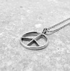 Peace Necklace Sterling Silver by GirlBurkeStudios on Etsy, $25.00