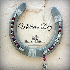 Visit my store to see ALL of my Custom Horseshoe Keepsake designs! https://www.etsy.com/shop/HensHorsesHome Custom personalized horseshoe for Mother's Day! Mothers Day MOM Two-Birthstone Horseshoe is truly a one-of-a-kind keepsake meant to be displayed, treasured and enjoyed! First,