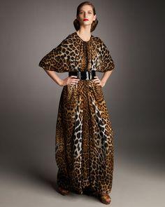 0059ba500 Animal print caftan Leopard Fashion, Animal Print Fashion, Animal Prints,  Fashion Prints,