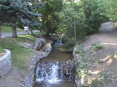 City Creek, in Memory Grove, was one of the first places that Mormon Pioneers built their homes.  The creek has been buried under downtown Salt Lake City for years.  Now, it has been incorporated in the new downtown City Creek Mall, and in small parks in the area.