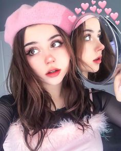 You are in the right place about Makeup Art pink Here we offer you the most beautiful pictures about the … Kawaii Makeup, Cute Makeup, Pretty Makeup, Makeup Art, Beauty Makeup, Makeup Looks, Aesthetic People, Aesthetic Hair, Aesthetic Makeup