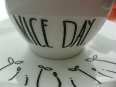 """taza pintada a mano """"Have a Nice Day"""""""