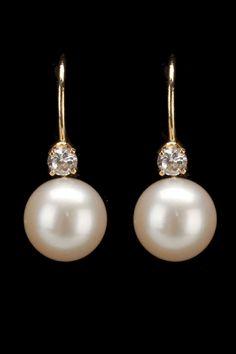 Orecchini di perle e diamanti