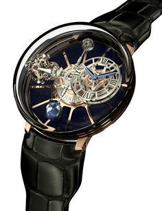 "Jacob & Co. Astronomia Tourbillon Watch ""For 2014 Jacob & Co. returns with a rather amazing watch creation sure to impress everyone from traditional watch lovers to the public at large. Watch the video of the new Astronomia Tourbillon and it is easy understand why ""wow"" is a typical response to the complex and very interesting horological creation..."""