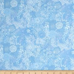 Packed Floral Tonal Light Blue from @fabricdotcom  This fabric is perfect for quilting, apparel and home decor accents. Colors include shades of lighter blue.