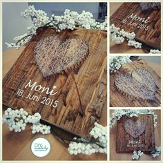 #diy #stringheart #wedding #vintagewedding  #vintage #vintagestyle #present #gift #geschenk #diypresent #diygifts #wood