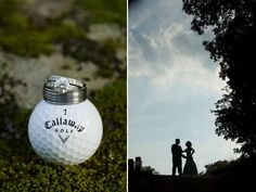 I would definitely have pictures like this taken! Especially if I got married on a golf course or at a country club!