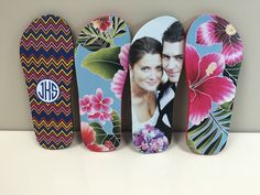 Personalized Flip Flops printed with LogoJET Flexible UV inks.