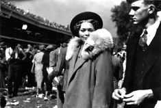 A historical photo of fashion from the Kentucky Derby at Churchill Downs