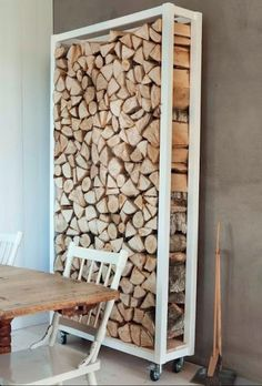 love this wood stack