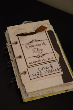 Wedding Card Book, a great way to keep all of the cards from your wedding!
