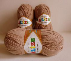 Pure wool yarnlight brownspecialwinterfall by yarnsupplies on Etsy, $21.00